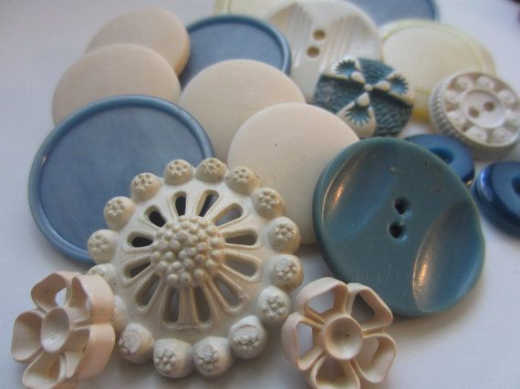 Vintage Buttons  Cottage chic mix of fancy french by pillowtalkswf, $7.95