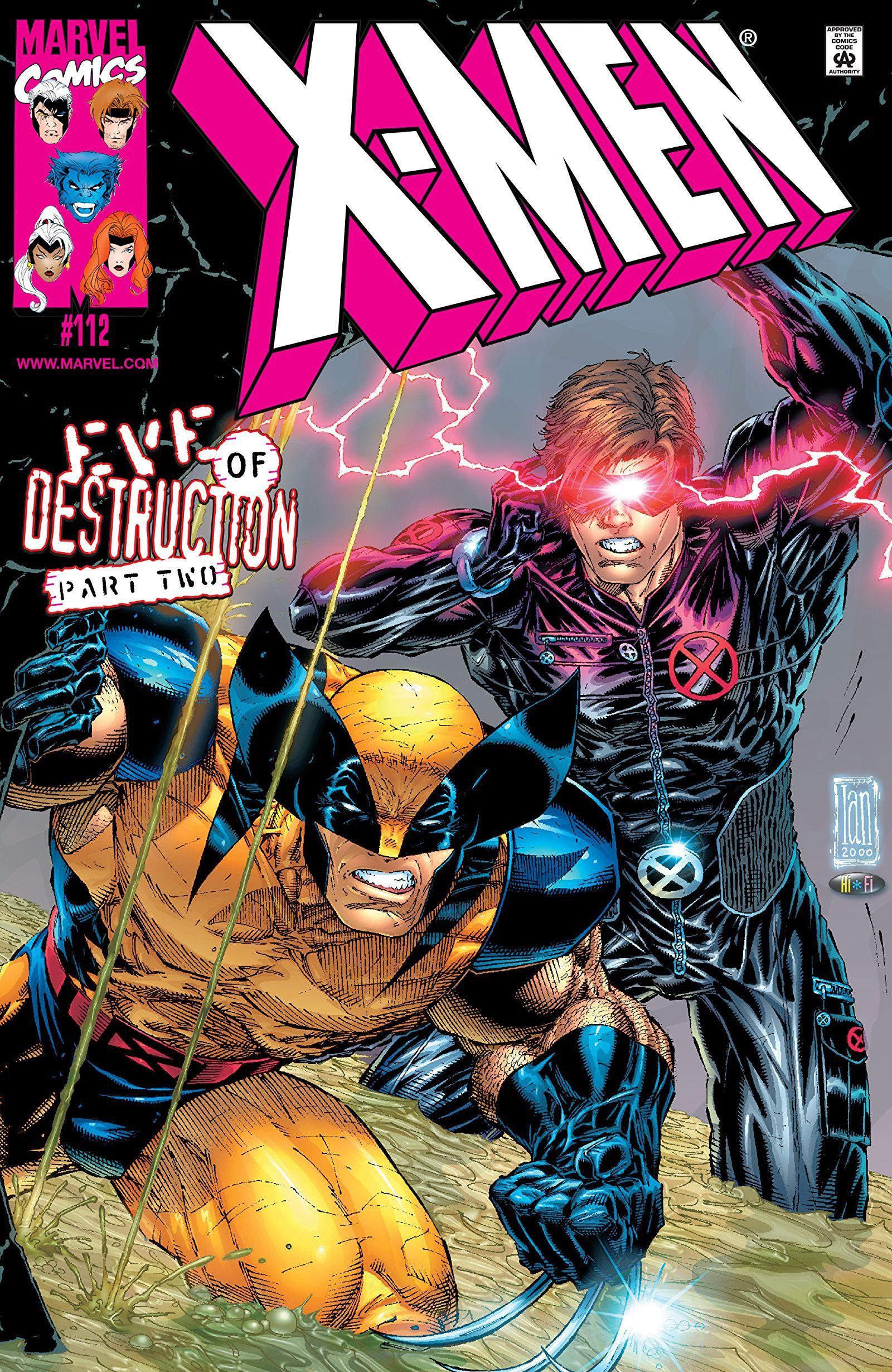 X Men 1991 2001 112 Cyclops X Men Marvel Comics Art Wolverine Marvel