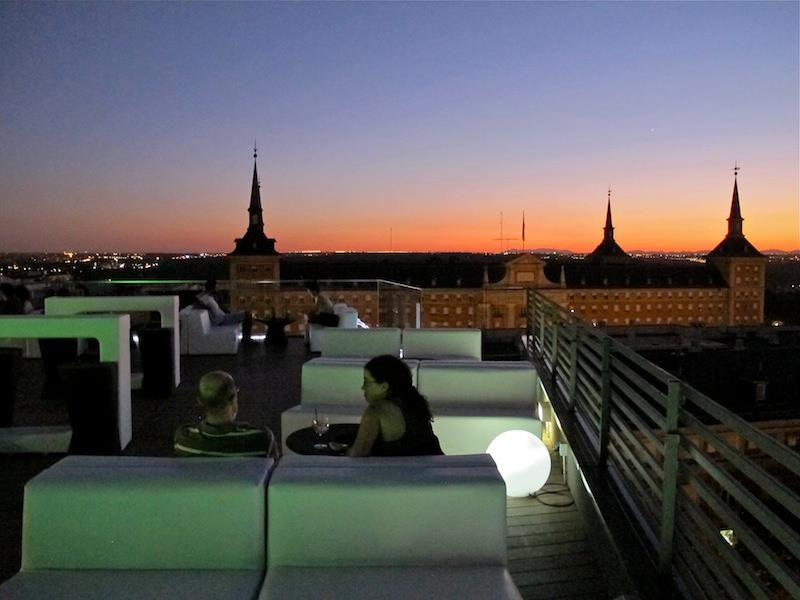 Terraza Del Poniente En Hotel Exe Moncloa Eurostars Madrid