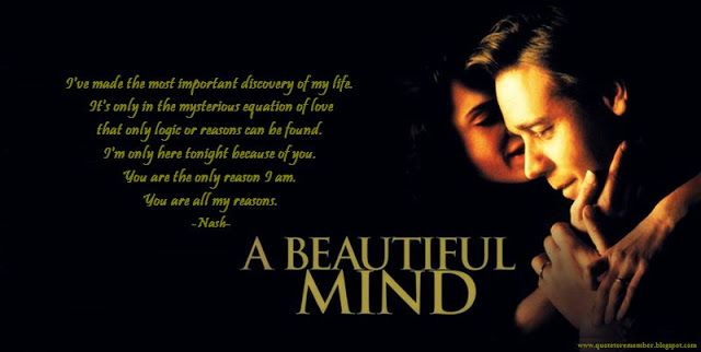 Quote From The Movie A Beautiful Mind Lights Camera Action
