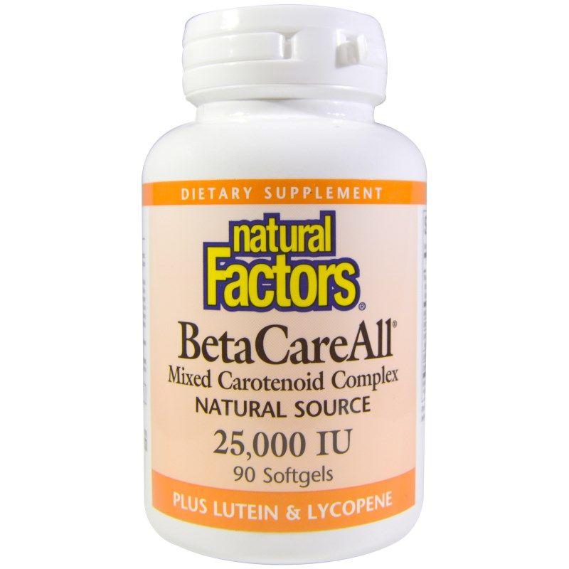 Natural Factors ベータケアオール Betacareall 25 000 Iu 90