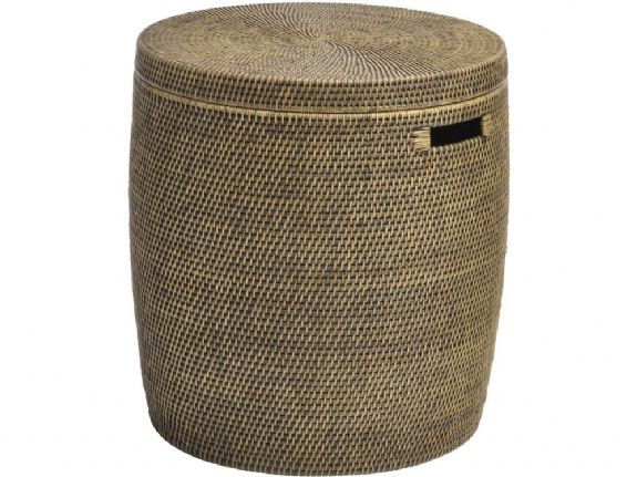 Wicker Laundry Bin Rattan Drum Table With Lid Rattan Storage Basket Round Woven Side Table Luxury Laundry Ba Wicker Storage Trunk Laundry Basket Basket
