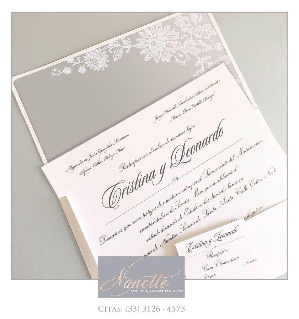 Invitación con detalles florales!!!