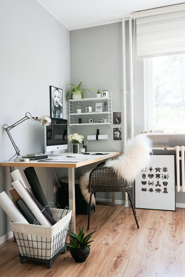 Homeoffice Gastezimmer Einrichten Schreibtisch Deko Arbeitszimmer Einrichten