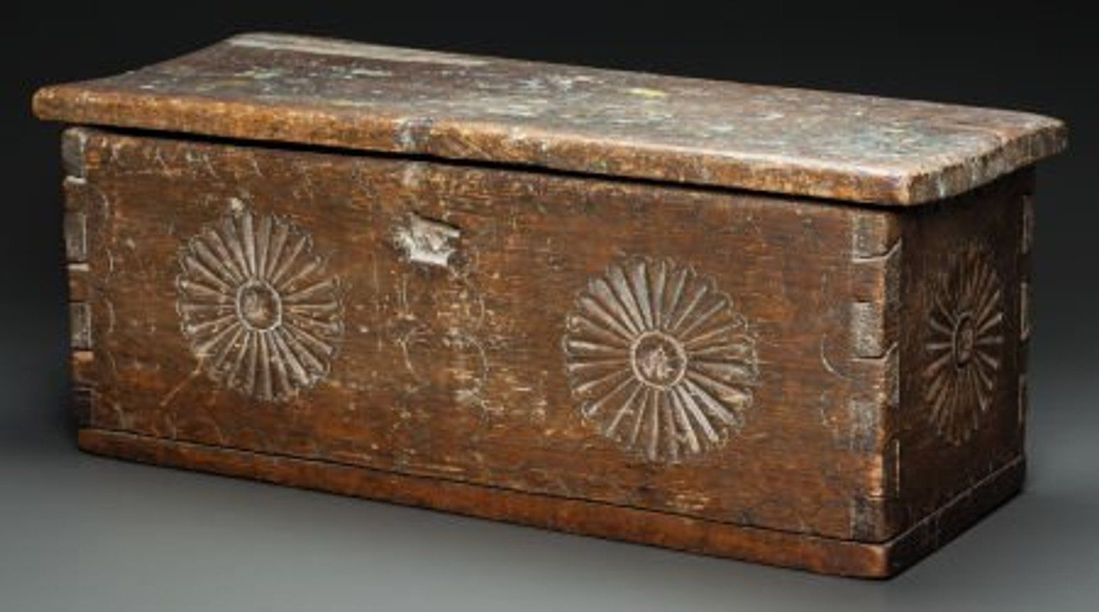 50020 A New Mexican Carved Wood Chest C 1800 Wood Chest Wood