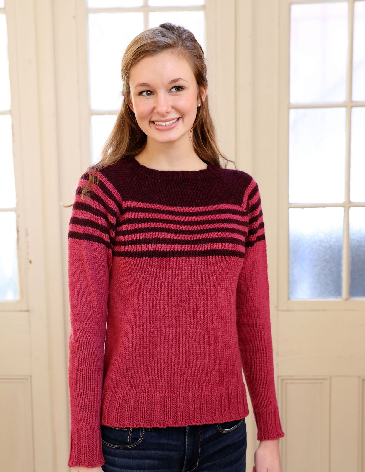 3175 Women\'s 2 Color Pullover pattern by Plymouth Yarn Design Studio ...