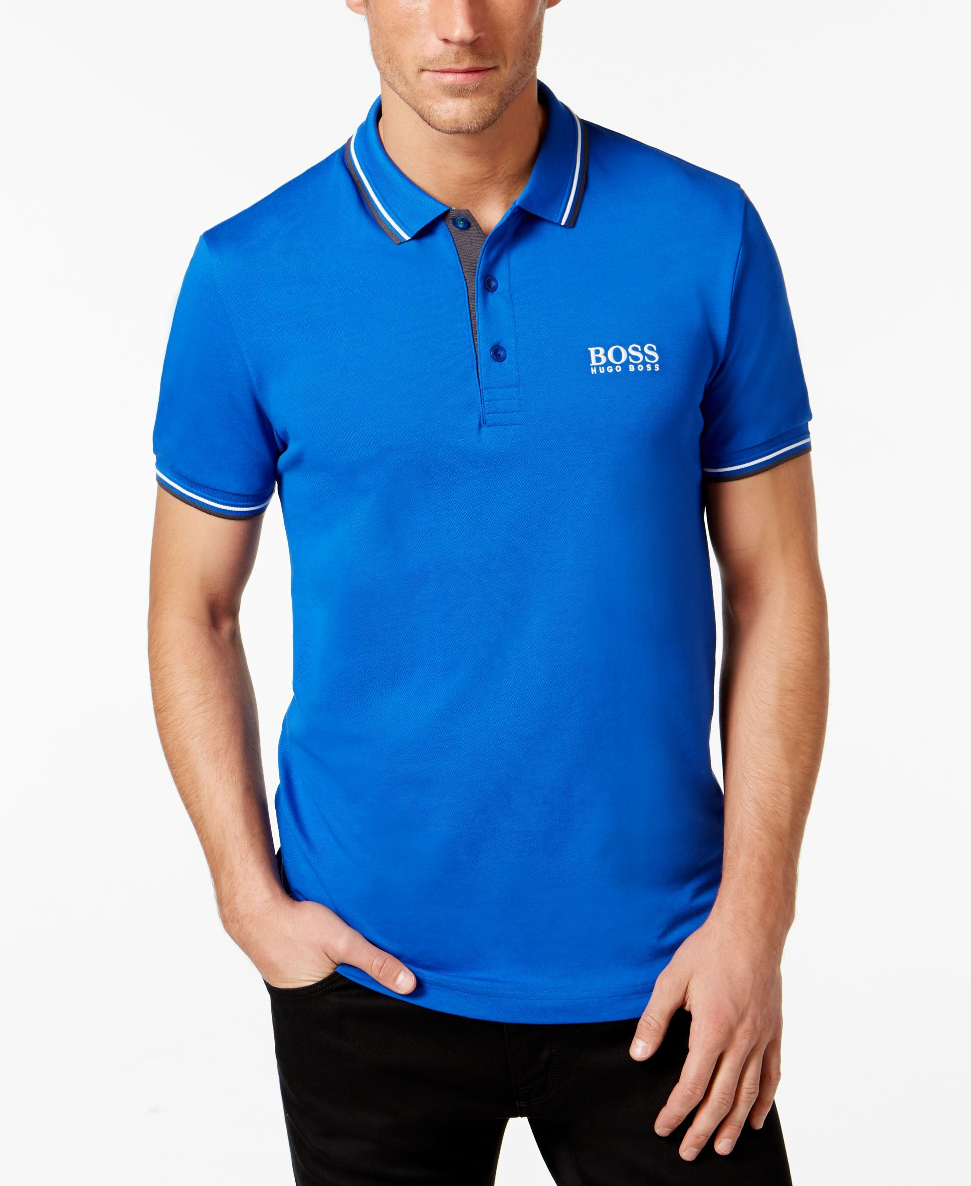 70aac8d51 Hugo Boss Paddy Pro Open Blue Polo | clothes in 2019 | Hugo boss ...