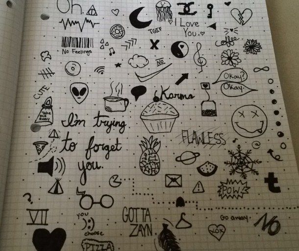 doodles, draw, drawing, tumblr, tumblr doodles   ♆journal ...