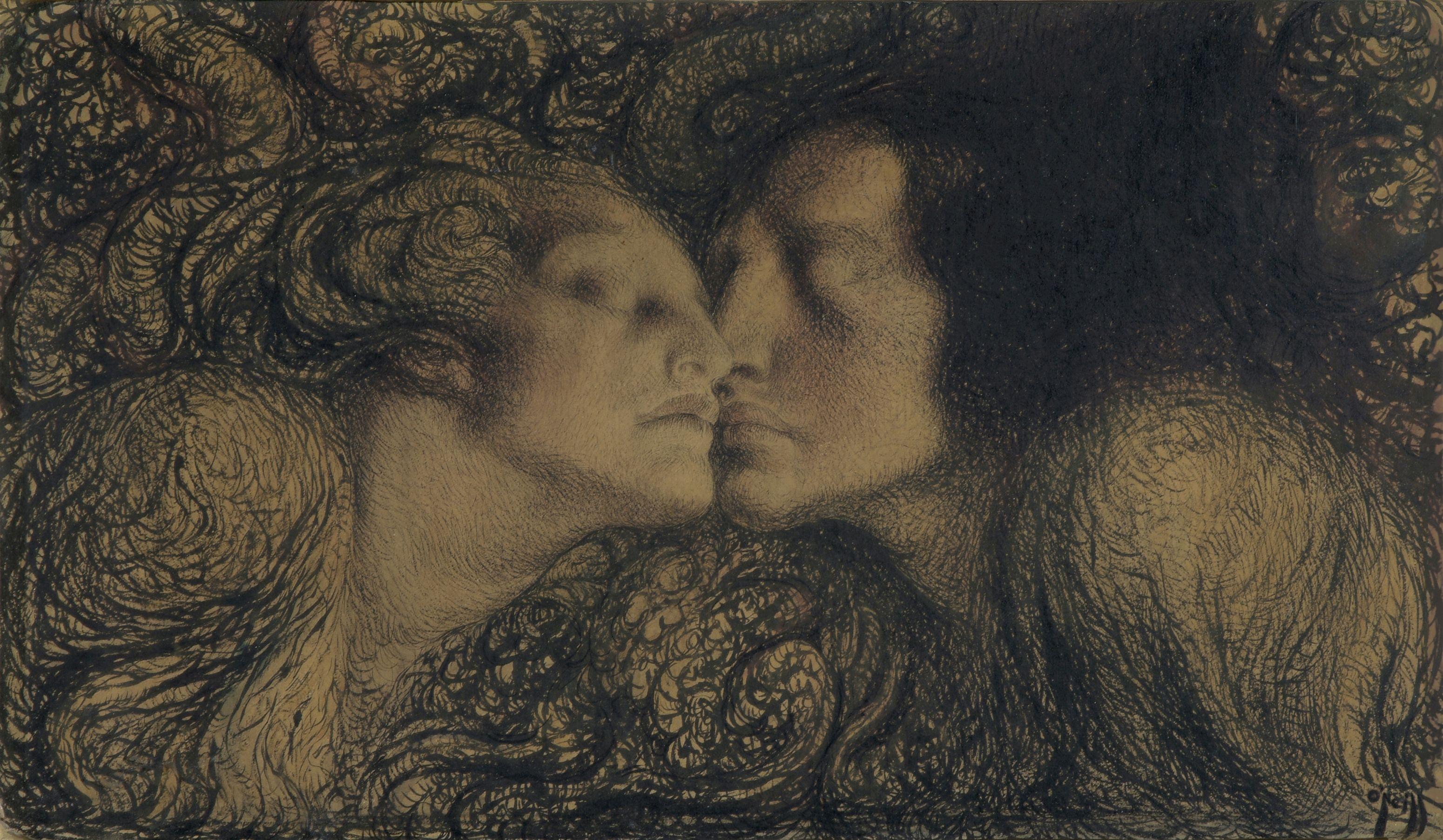 The Kiss By Rose O Neill Art Art Sites