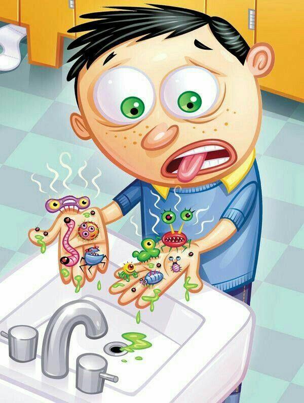 Pin Von Marila Auf شخصیت کارتونی Kinder Schule Und Bakterien