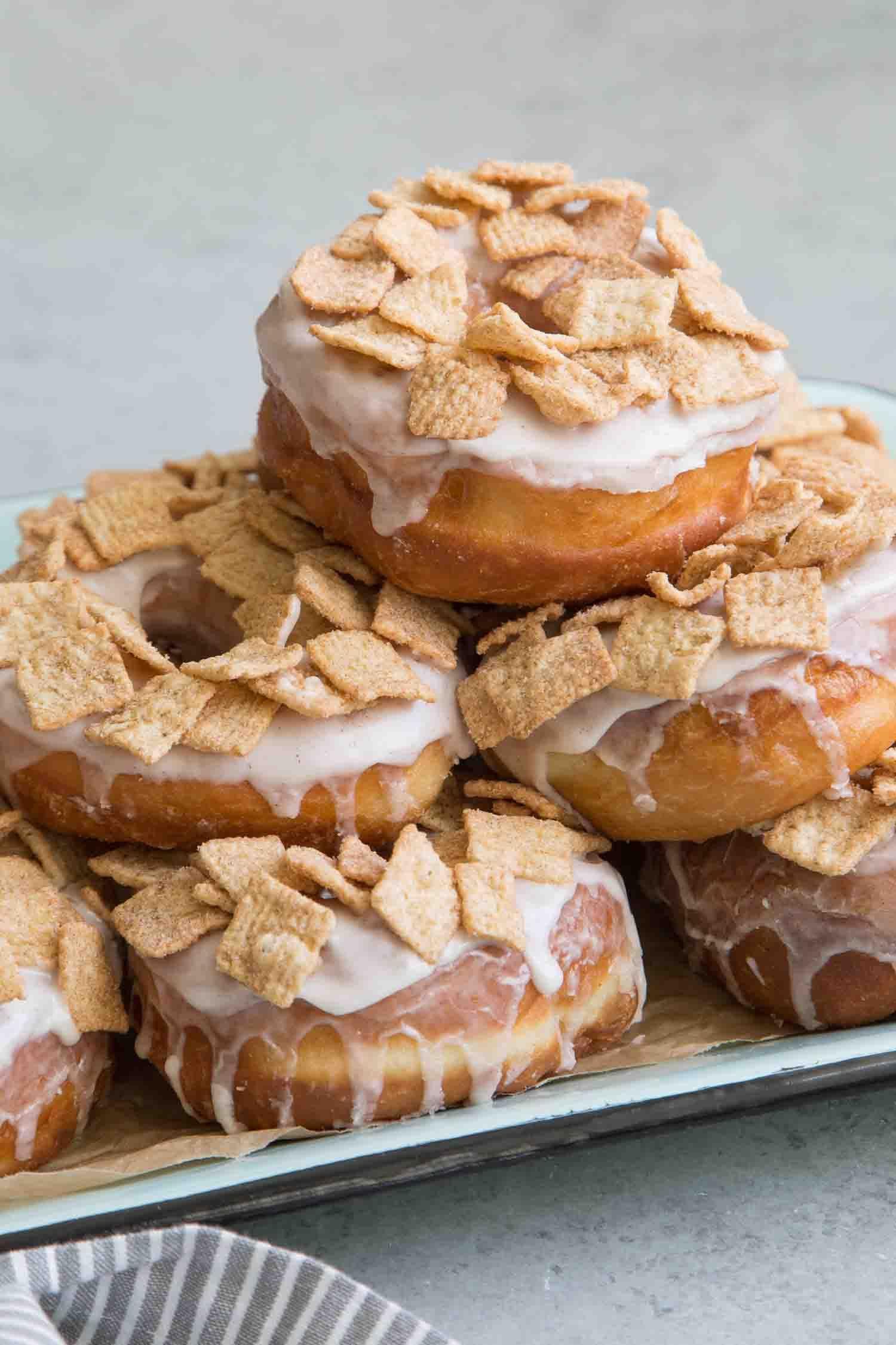 Cinnamon Toast Crunch Doughnuts- The Little Epicurean