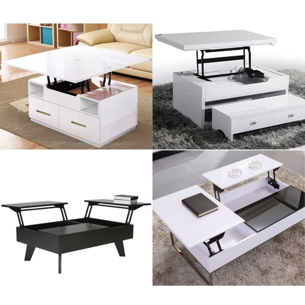 1Pair Lift Up Top Coffee Table Lifting Frame Mechanism Spring Hinge ...