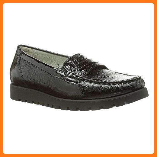 Waldlaufer Womens Taipei Hegli Black Leather Shoes 40 EU iiNDF