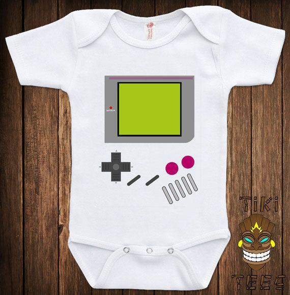 Game Boy Costume Classically Trained Gamer Video Game Retro Old School Funny College Humor Cool Geek Nerd Baby Infant Child Onesie Bodysuit on Etsy, $15.00