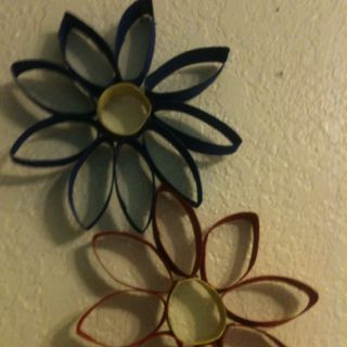 Toilet paper roll flowers things ive made pinterest toilet toilet paper roll flowers mightylinksfo Choice Image