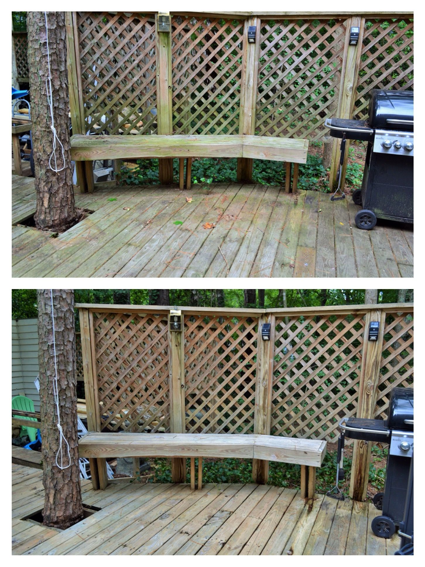Deck wash done before and after done by envirowash
