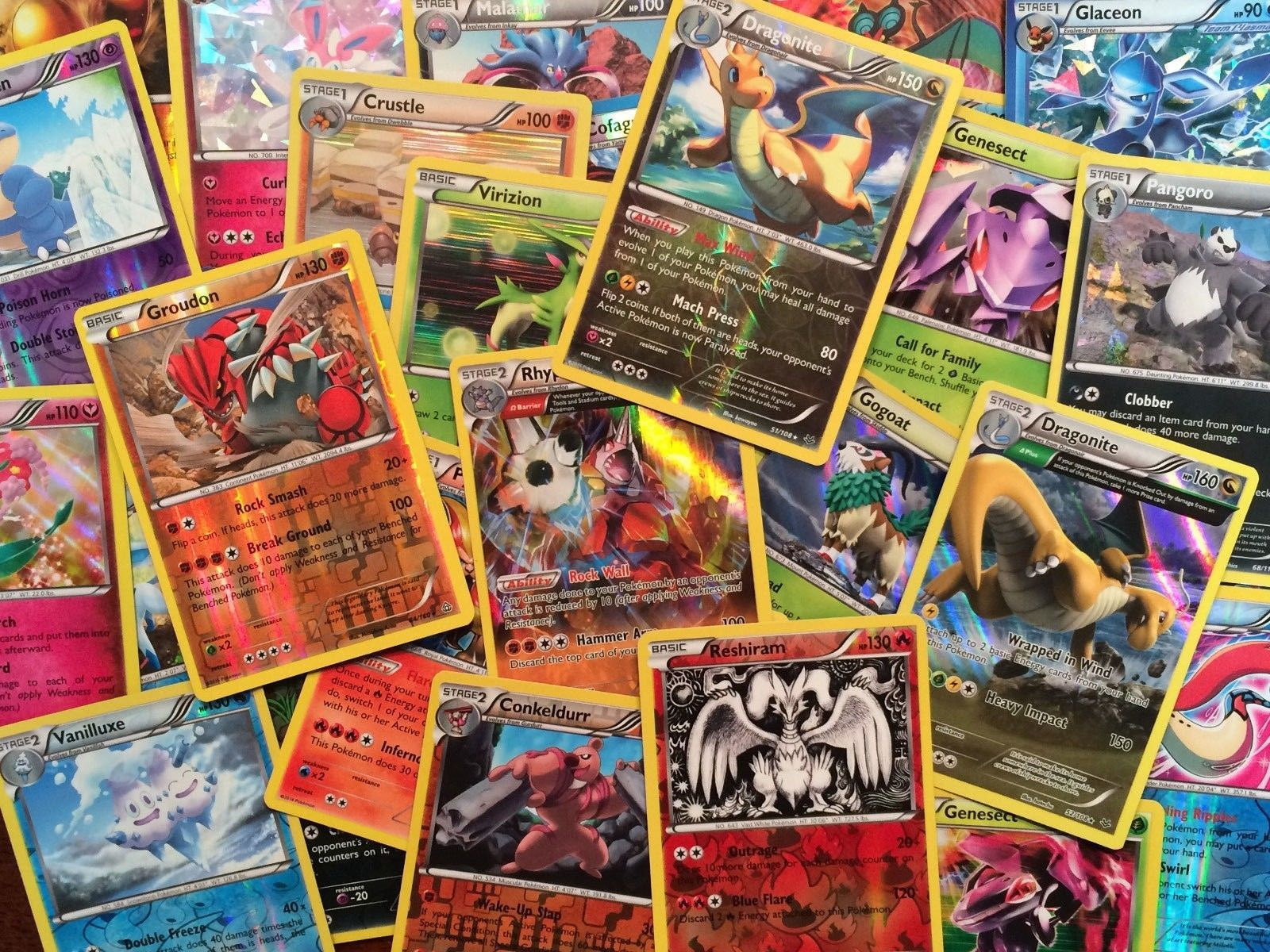 HOLO CARDS Pokemon TCG 100 CARD LOT AUTHENTIC COMMON UNCOMMON GUARANTEED RARE
