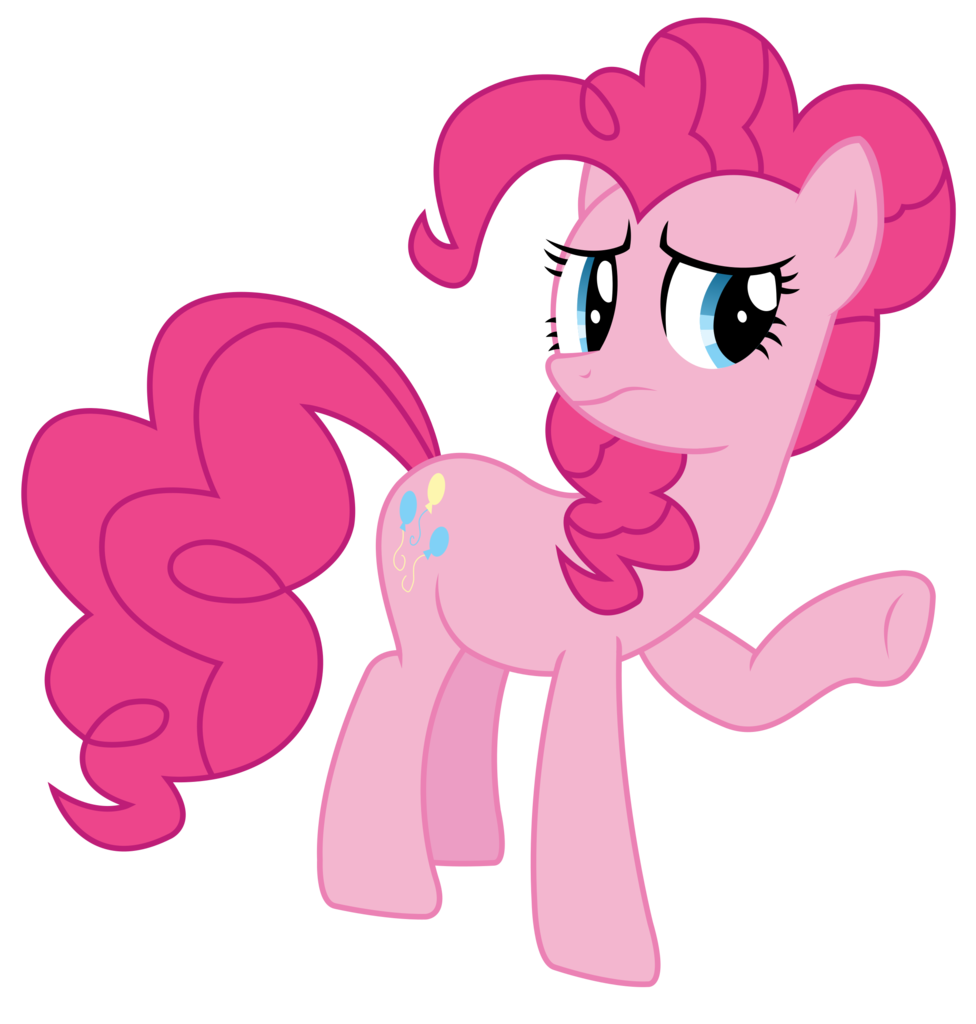 1124076 Artist Sketchmcreations Frown Inkscape Pinkie Pie Raised Hoof Safe Simple Background Solo Pinkie Pie My Little Pony My Little Pony Friendship