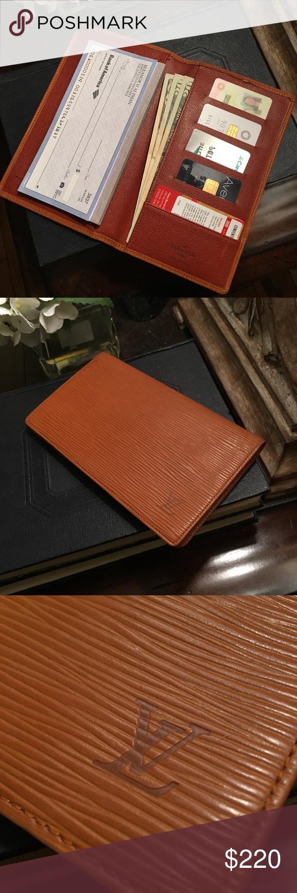 louis vuitton epi leather checkbook my posh picks pinterest