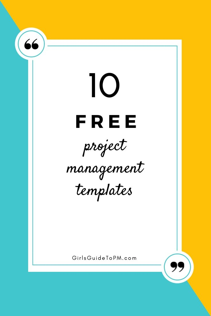 Free Project Planner Template 10 Free Project Management Templates  Girl's Guide To Project .