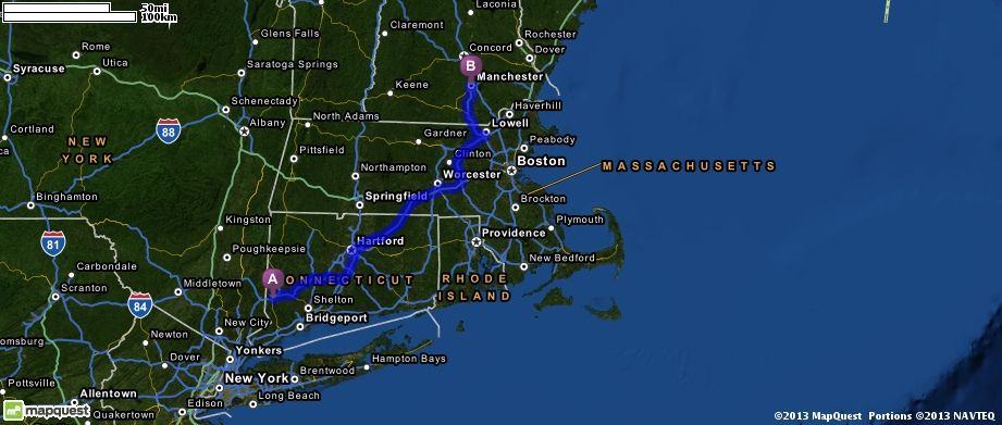 Driving Directions from i84 in Danbury Connecticut to Manchester – Mapquest Driving Directions