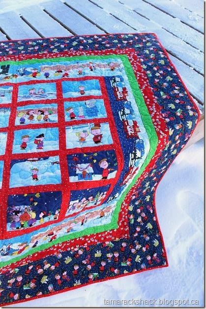 quilt made with peanut comic strip panels - Google Search