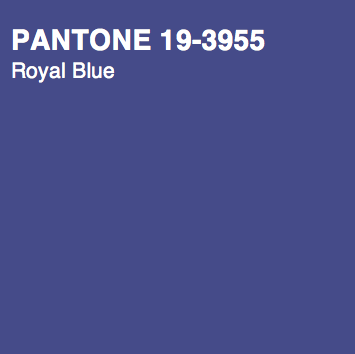 PANTONE 19 3955 Royal Blue Fall Winter 2014 Color Trend