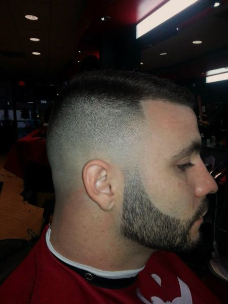 Military Hairstyle With Trimmed Beard Barbershops Pinterest