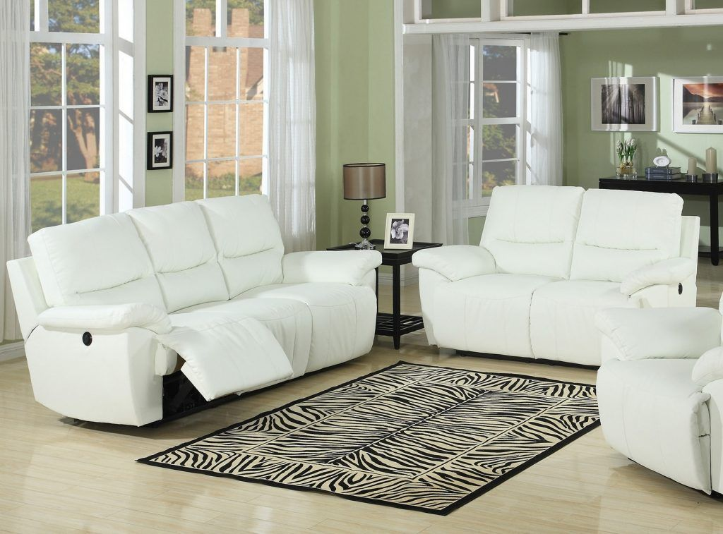 Creative of White Leather Recliner Sofa Leather Couch Inside ...