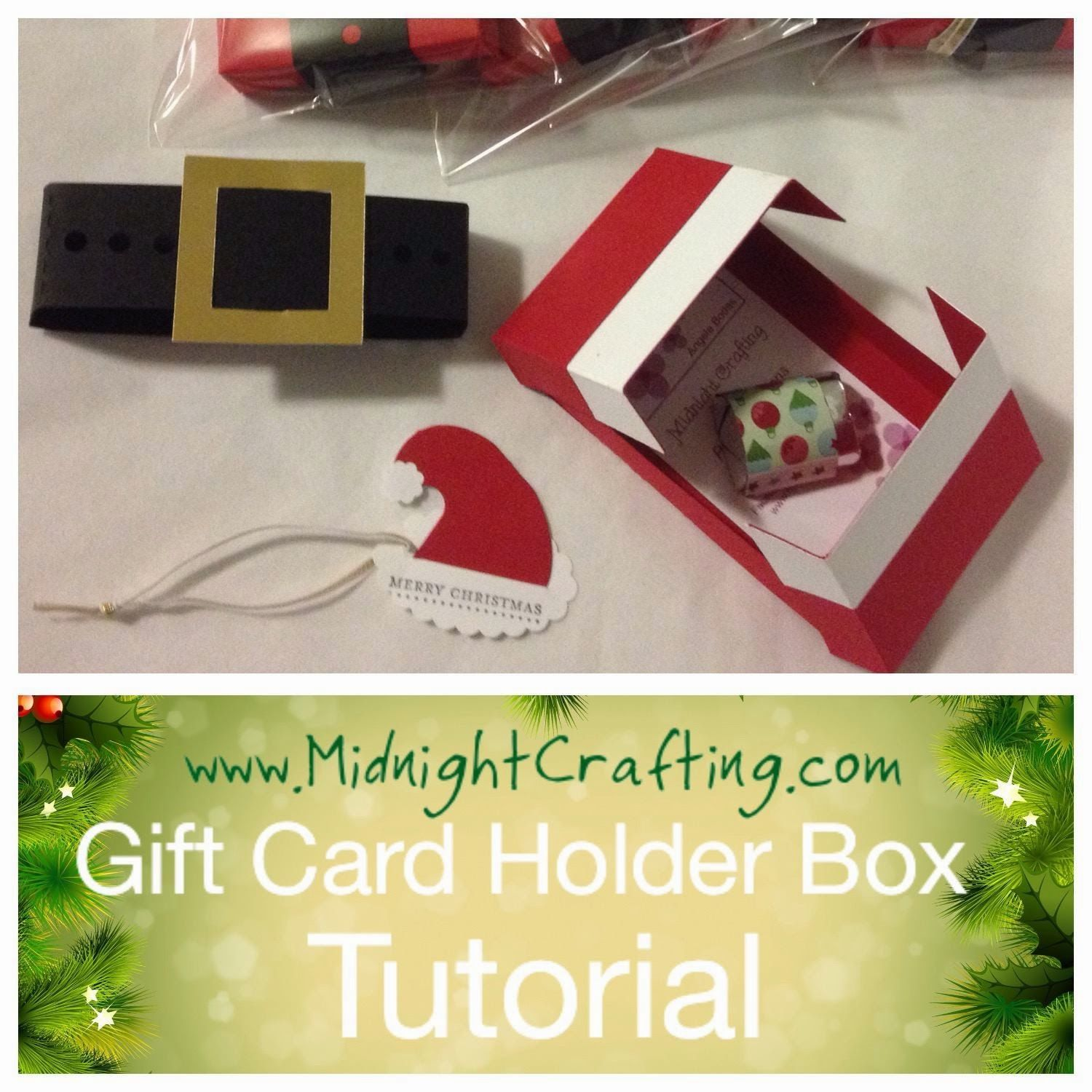 Gift Card Holder Box Tutorial Giftable Pinterest Gifts Gift