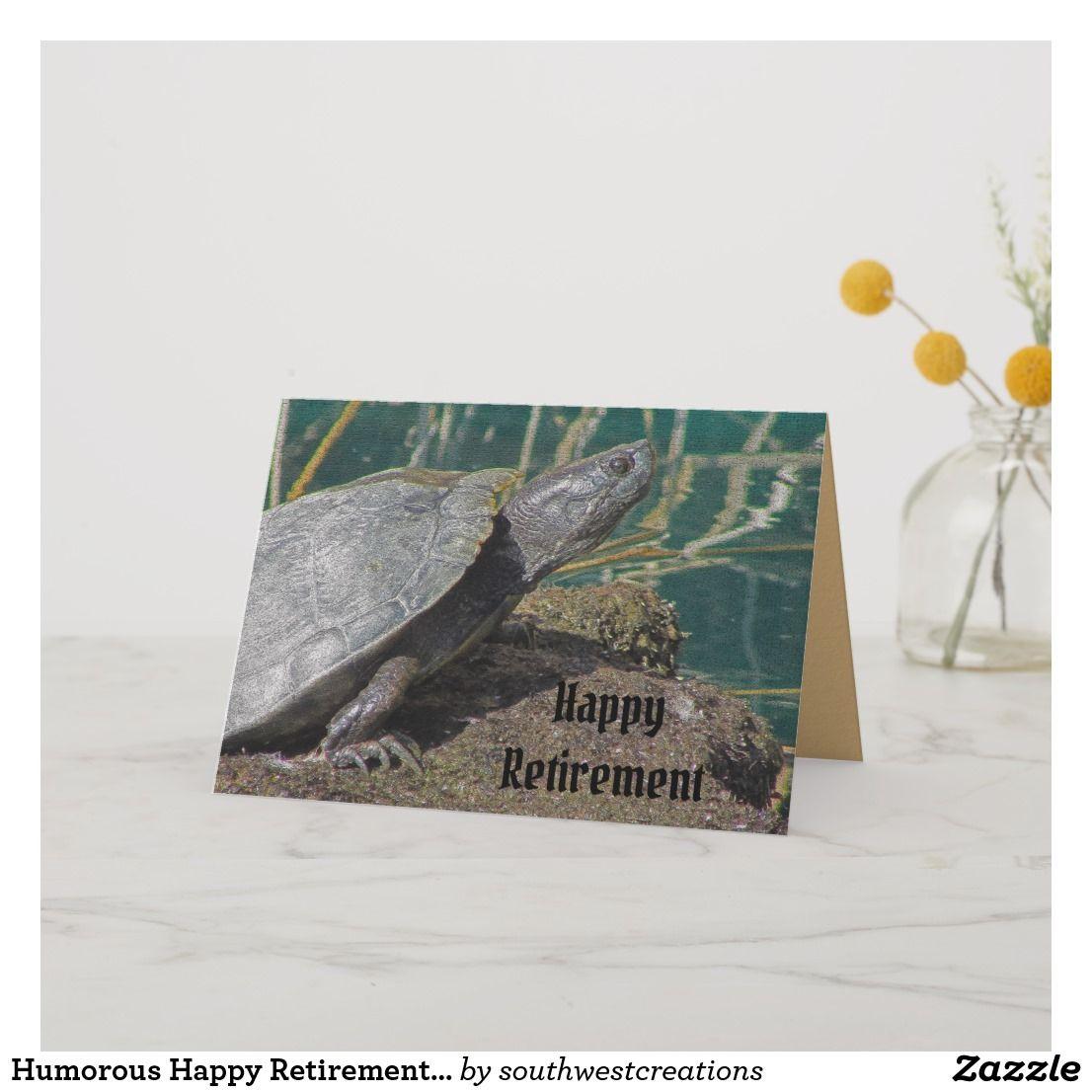 Happy Retirement Humorous Turtle Speed Enjoy Life Card