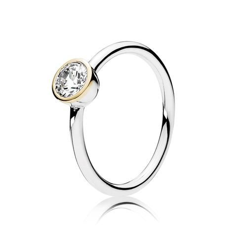 PANDORA Petite Circle Ring, Clear Cubic Zirconia - Item 191043CZ