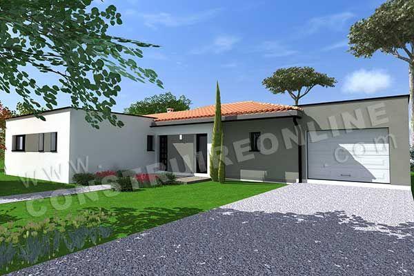 divu003eu003cbu003eMaison moderne de plain-pied de type 4u003c bu003eu003c divu003eu003cdivu003e3 - facade de maison moderne