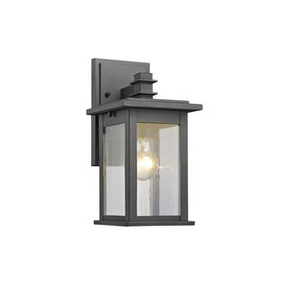 Outdoor Wall Lantern Lights Custom Shop For Chloe Transitional 1Light Black Outdoor Wall Lanternget Review