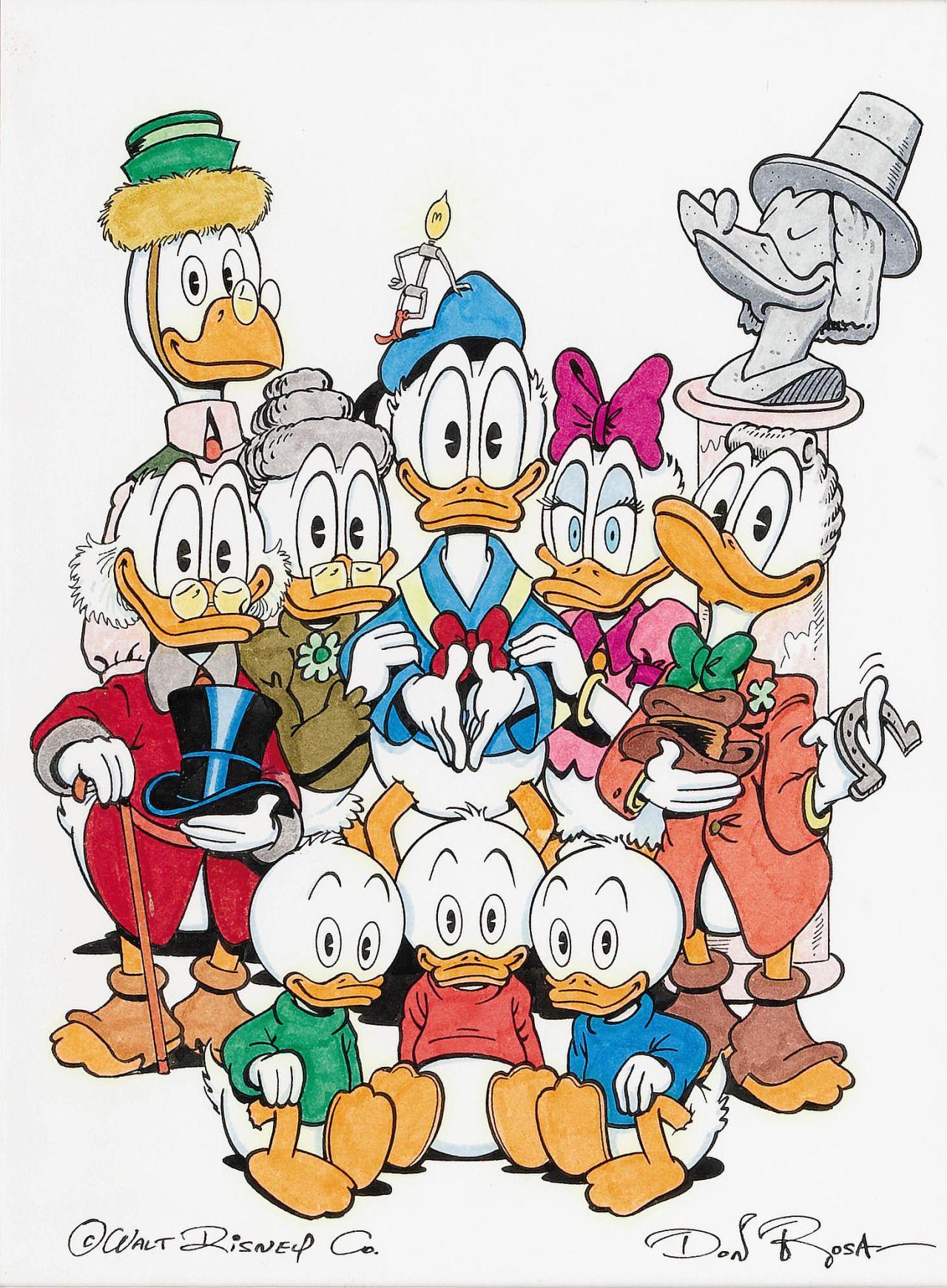 original duck family portrait by don rosa disney duck