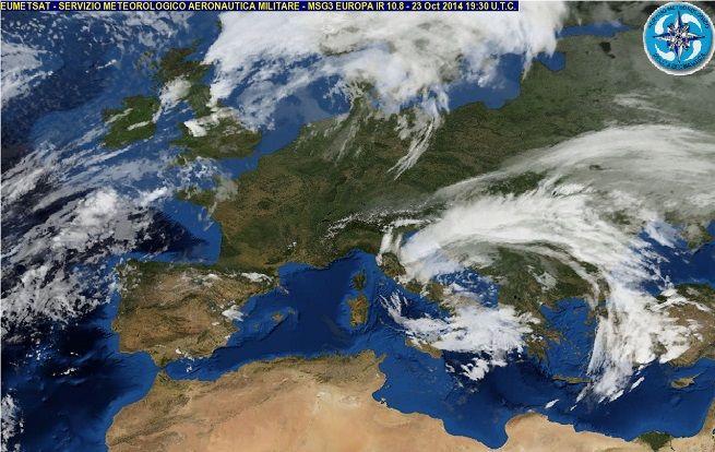 """Meteo 24 Ottobre 2014: """"Attila"""" si sposta sul Centro-Sud, portando vento e piogge diffuse. Temperature in calo   The Horsemoon Post"""