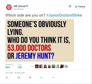 Truth & lies behind #juniordoctorsstrike (& what you can do) - Looks like the majority of the public are againstJeremyHunt, his bullying tactics and refusal to listen to people who know what they are talking about. From just a glance at social media he is co...
