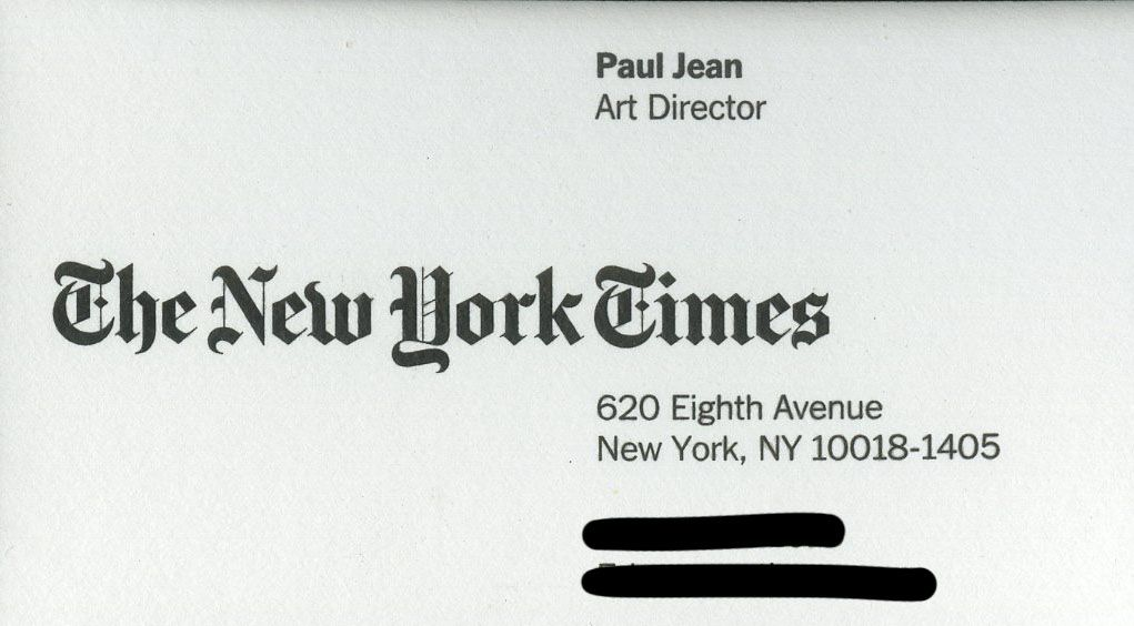 New york times business card identity pinterest times new york times business card colourmoves