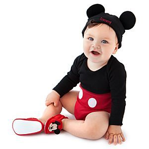 personalizable mickey mouse costume bodysuit and cap for baby boy 19 i know a - Baby Mickey Mouse Halloween Costume