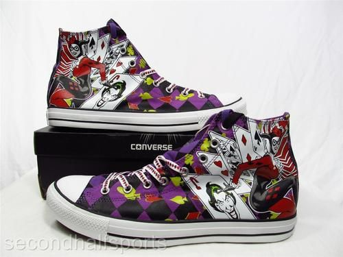 6dbfa3d9ae96 Converse Batman Villains HARLEY QUINN Chuck Taylor All Star Sneaker Joker