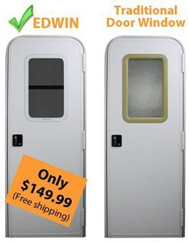 Rv Campers For Sale Near Me >> Replace RV door window with one that opens and closes. | Remodeled campers, Entry doors, Camper