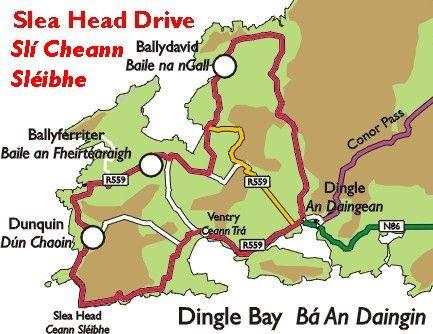 Map Of Ireland Showing Dingle.Ireland Slea Head On Dingle Peninsula Travel Ireland Ireland