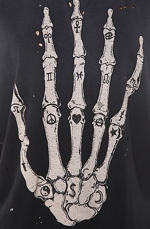 UNIF Skullhand Tee in Black