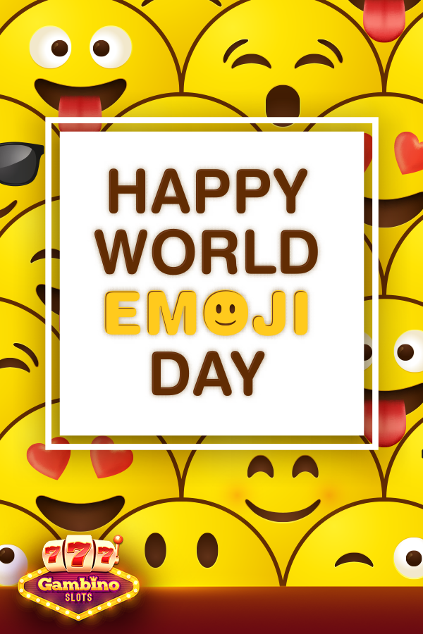 World Emoji Day Brings Lots Of Emotions At Gambino Slots We Prefer Lol And Dollar Sign Icons Make The Best Of Thi World Emoji Day Games For Fun Play Online