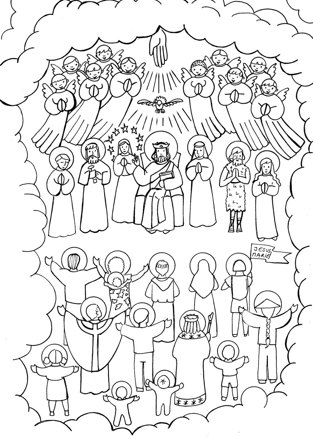 All Saints Day Coloring Pages K5 Worksheets All Saints Day Catholic Coloring Saint Coloring