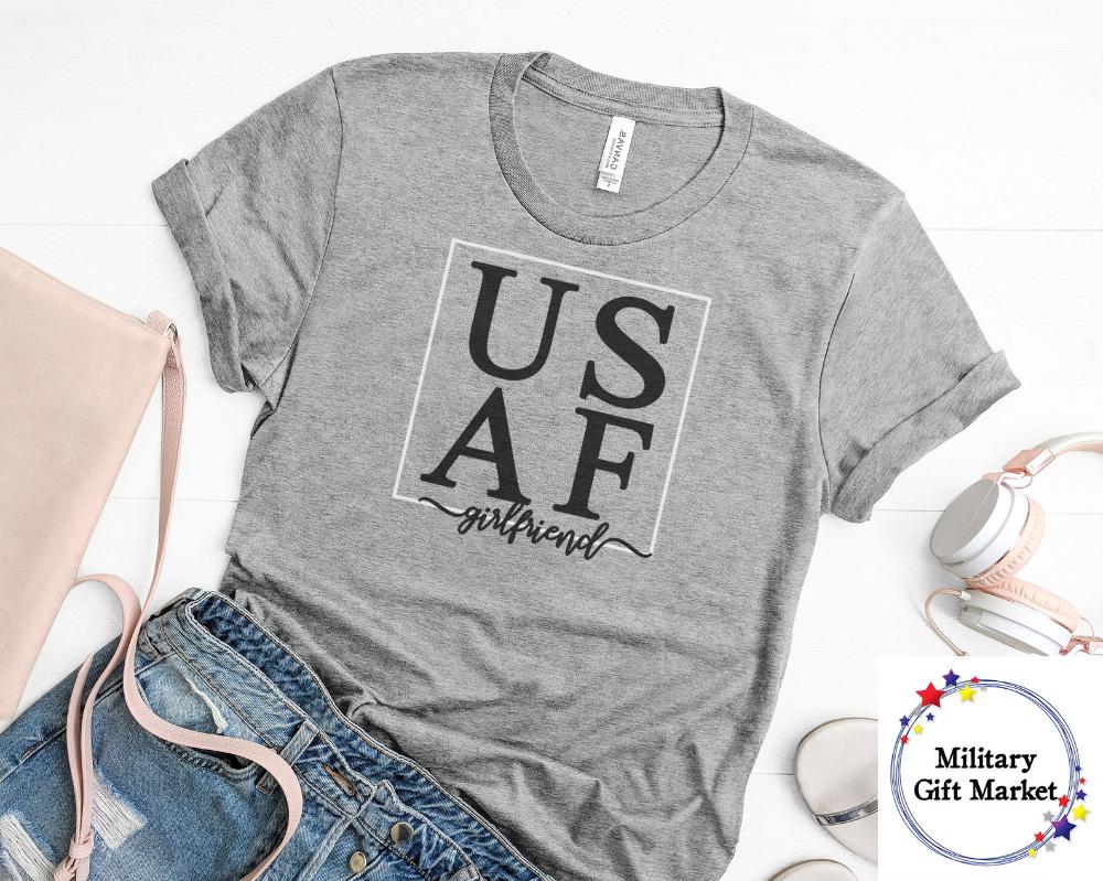USAF Girlfriend Tshirt, Air Force T shirt for Women