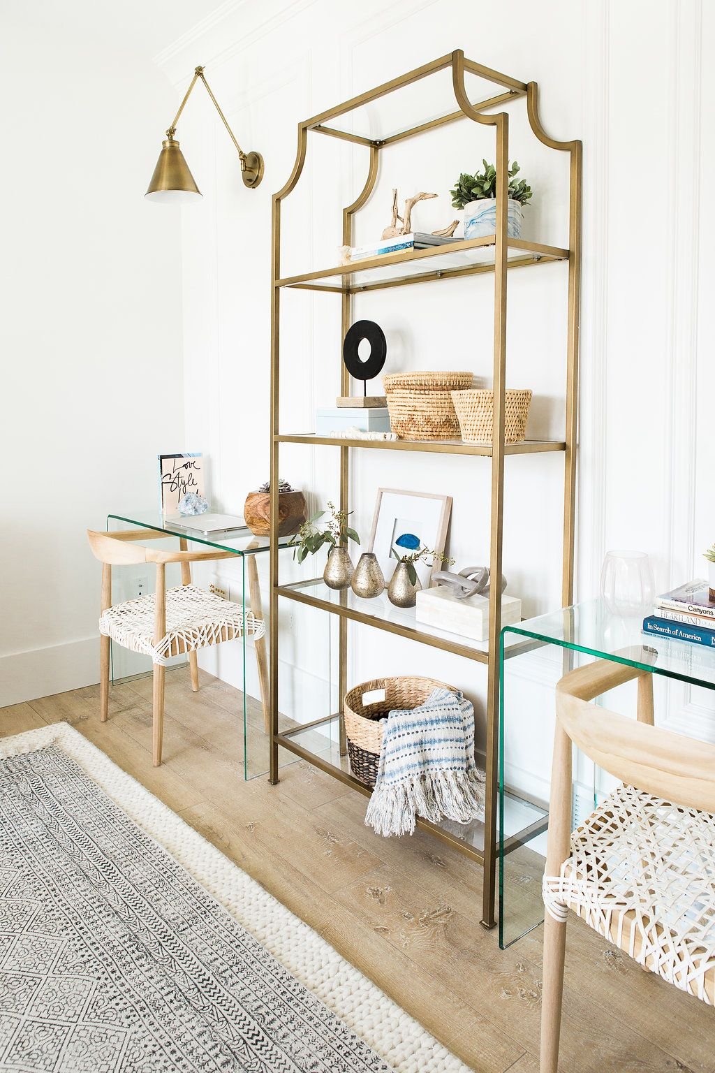 such a fun and functional office set up for a small space | Home ...