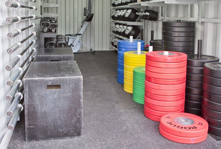 Crossfit box built out of a shipping container delta