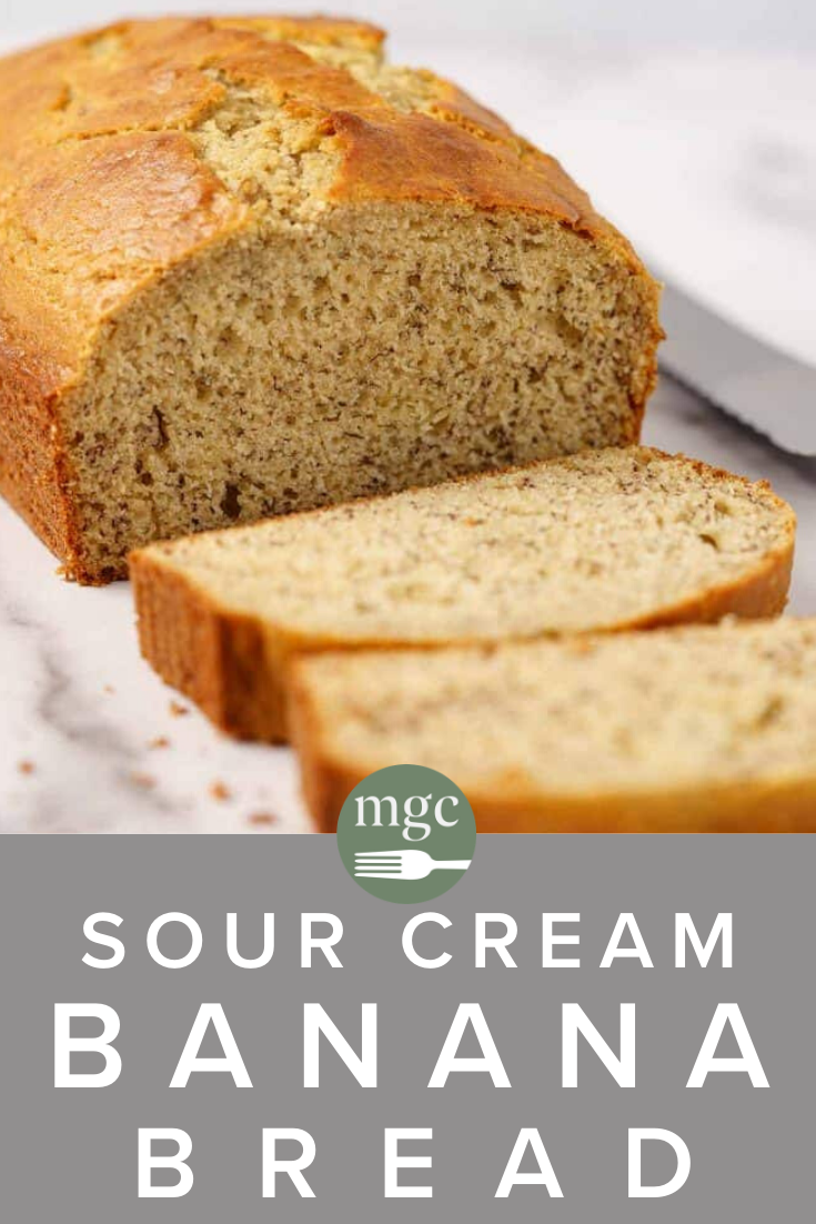 Sour Cream Banana Bread Recipe In 2020 Sour Cream Banana Bread Recipes Breakfast Brunch Recipes