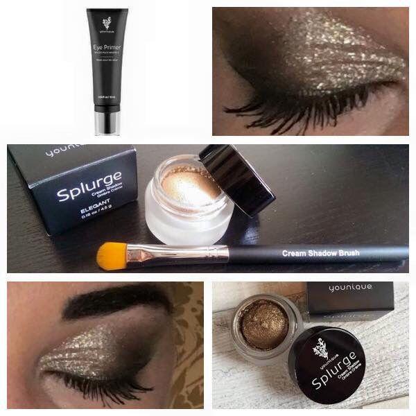 Sparkly cream shadow creates the perfect smokey eye!